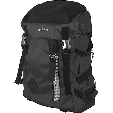 Manhattan® Zippack Heavy-Duty Polyester Backpack For 15.6in. Laptops, Black