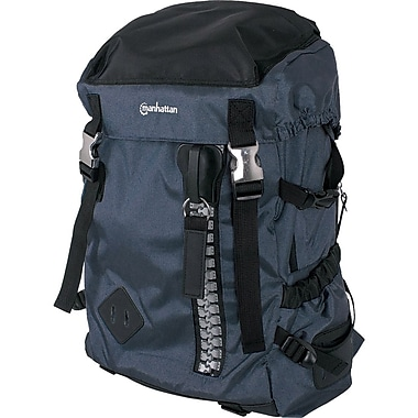 Manhattan® Zippack Heavy-Duty Polyester Backpack For 15.6in. Laptops, Blue/Black