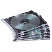 Fellowes® NEATO Slim Jewel Case, Clear/Black, 100/Pack