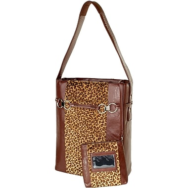 Women in Business 15.25in. x 12in. x 5.5in. Stila Moderna 15.6in. Vertical Laptop Case, Leopard/Brown