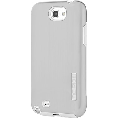 Incipio® DualPro® SHINE Dual Protective Case For Samsung Galaxy Note 2, Silver/White