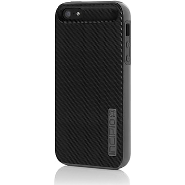 Incipio® DualPro® CF Dual Protection Case With Carbon Fiber Finish For iPhone 5/5s, Black/Gray
