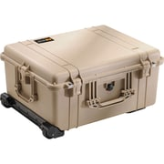 Pelican™ 1610 Hard Case With Foam and Wheels, Desert Tan