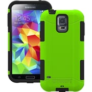 Tridentcase™ Aegis 2014 Hard Cover Over Skin Case W/Screen Protector F/Galaxy S5, Green/Black