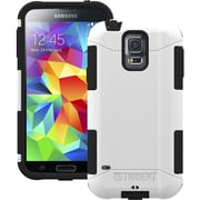 Tridentcase™ Aegis 2014 Hard Cover Over Skin Case W/Screen Protector F/Galaxy S5, White/Black