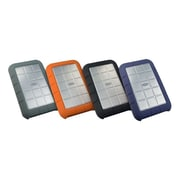 Lacie® Rugged Sleeve For Hard Drives, Black/Green Gray/Blue Gray