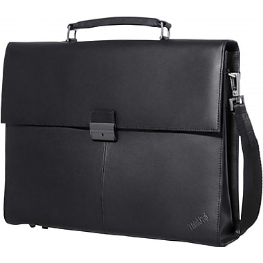 Lenovo® 14.1in. ThinkPad Executive Leather Carrying Case, Black