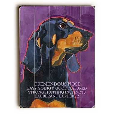 Artehouse LLC Coon Hound by Ursula Dodge Graphic Art Plaque