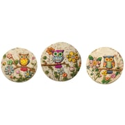 Boston International Owl Stepping Stone (Set of 3)