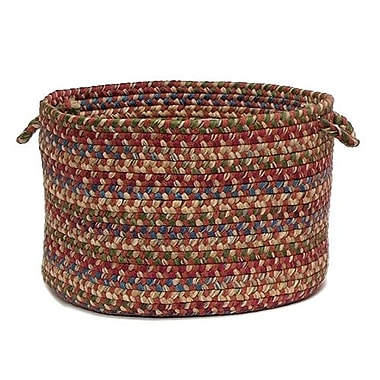 Colonial Mills Twilight Braided Utility Basket; Rosewood
