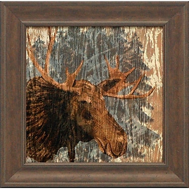 Artistic Reflections Lodge Moose Framed Painting Print