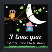 Artistic Reflections 'I love You To The Moon' Framed Graphic Art