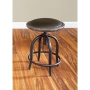 Largo Whitney Adjustable Height Bar Stool with Cushion; 24''