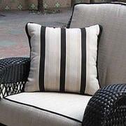 The Outdoor GreatRoom Company Ebony & Ivory Outdoor Throw Pillow