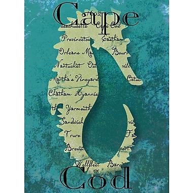 Graffitee Studios Cape Cod Cape Cod Seahorse Graphic Art on Wrapped Canvas
