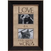 Artistic Reflections Love Is a Four-Legged Word Photo Frame