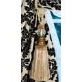 Xia Home Fashions Glass Ball Tassel Curtain Tieback; Ivory