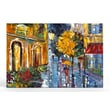 Artefx Decor Village Rain Textured Painting Print on Canvas