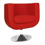 Whiteline Imports Bliss Barrel Chair; Red
