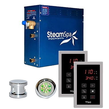 Steam Spa SteamSpa Royal 6 KW QuickStart Steam Bath Generator Package in Polished Chrome