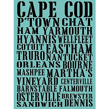 Graffitee Studios Cape Cod Towns Textual Art on Wrapped Canvas
