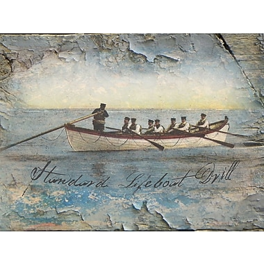 Graffitee Studios Coastal Standard Lifeboat Drill Graphic Art on Wrapped Canvas