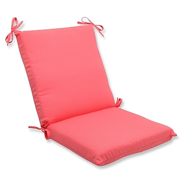 Pillow Perfect Fresco Outdoor Lounge Chair Cushion; Melon