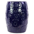 Woodland Imports Ceramic Garden Stool; Dark Blue