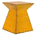 Woodland Imports Metal Stool; Yellow
