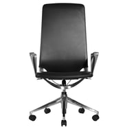 Wobi Office Marco High-Back Leather Chair with Adjustable Armrest; Standard