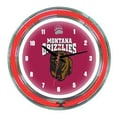 Wave 7 NCAA 14'' Team Neon Wall Clock; Montana
