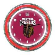 Wave 7 NCAA 14'' Team Neon Wall Clock; Montana