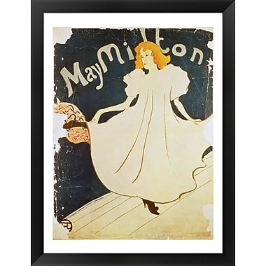 Evive Designs May Milton, France, 1895 by Henri de Toulouse-Lautrec Framed Vintage Advertisement