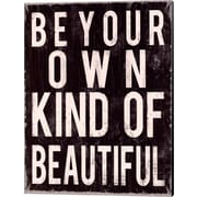 Evive Designs Be Your Own Kind of Beautiful by Louise Carey Textual Art on Canvas