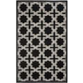 Safavieh Amherst Anthracite / Grey Outdoor Rug; 5' x 8'