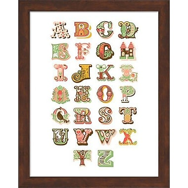 Evive Designs Alphabet Framed Art