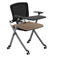 Compel Office Furniture Ziggy Mesh Nesting Chair with Tablet Tray; Chalk