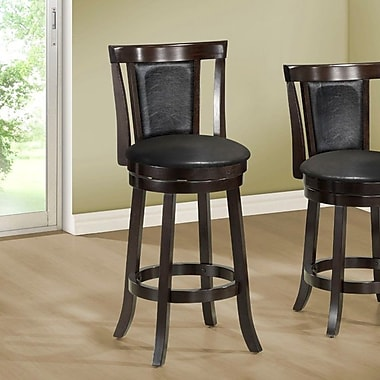 Monarch Specialties Inc. 43'' Swivel Bar Stool with Cushion (Set of 2)
