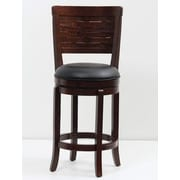 Mochi Furniture 24'' Swivel Bar Stool; Cappuccino