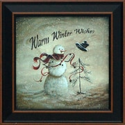 Artistic Reflections Warm Winter Wishes Framed Graphic Art
