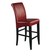 OSP Designs Parsons 30'' Bar Stool with Cushion; Crimson Red Bonded Leather