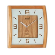 Opal Luxury Time Products 12'' Square Wooden Curved Case Wall Clock