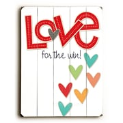 Artehouse LLC Love for the Win Wood Sign