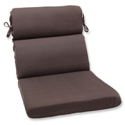 Pillow Perfect Forsyth Outdoor Lounge Chair Cushion; Chocolate