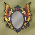Design Toscano  Twin Fairies Wall Sculptue Mirror
