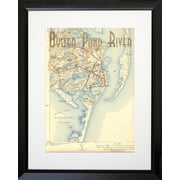 PENL Maps Oyster Pond River Framed Graphic Art