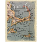 Graffitee Studios Maps Cape Cod Navigation Textual Art on Wrapped Canvas