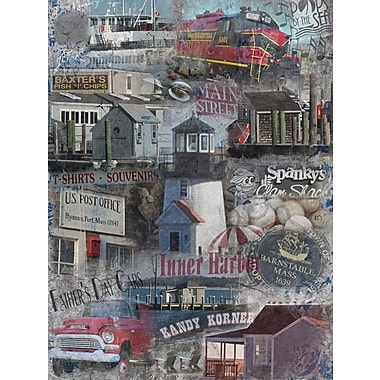 Graffitee Studios Cape Cod Inner Harbor - Hyannis Graphic Art on Wrapped Canvas