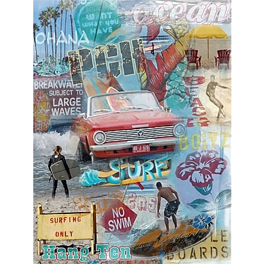 Graffitee Studios Surf Beach Buoys Graphic Art on Wrapped Canvas