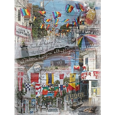 Graffitee Studios Cape Cod Way of Life - Provincetown Graphic Art on Wrapped Canvas